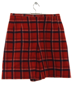 1970's Womens Wool Culottes Shorts