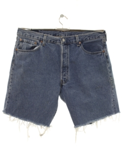 1980's Mens Levis 501 Cut Off Denim Shorts