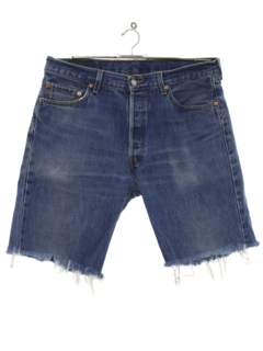 1990's Mens Levis 501 Cut Off Denim Shorts