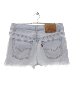 1980's Womens Levis 517 Cut Off Denim Shorts