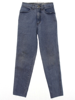 1980's Womens Western Style Tapered Leg Denim Jeans Pants