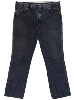 1980's Mens Western Style Straight Leg Denim Jeans Pants
