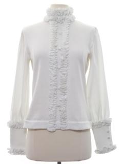 1960's Womens Mod Edwardian Style Knit Shirt