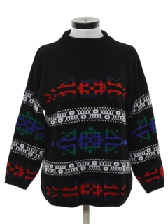 1980's Womens Totally 80s Ski Style Sweater
