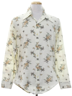 1970's Mens Print Hippie Style Shirt