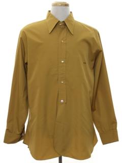 1960's Mens Mod Monogrammed Shirt