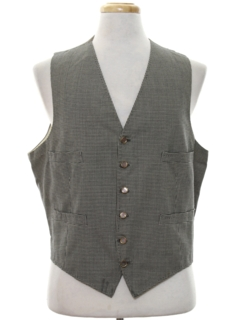 1950's Mens Wool Flannel Suit Vest
