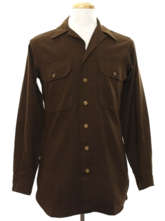 1940's Mens WWII Wool Flannel Army Shirt