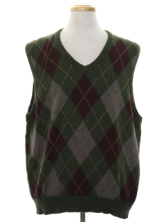 1980's Mens Preppy Sweater Vest