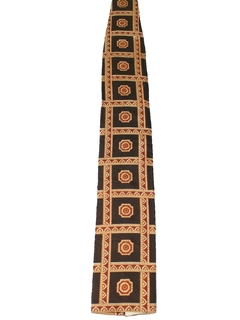 1970's Mens Mod Flat Bottom Necktie