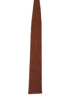 1960's Mens Skinny Mod Flat Bottom Necktie