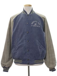 1990's Mens Denim Baseball Style Jacket