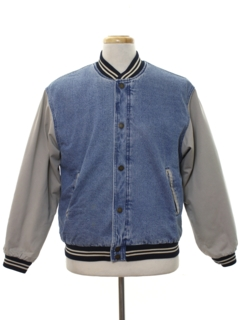 1990's Mens or Boys Denim Baseball Style Jacket