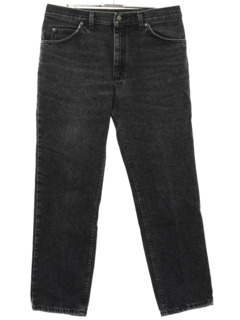 1980's Mens Tapered Leg Denim Jeans Pants