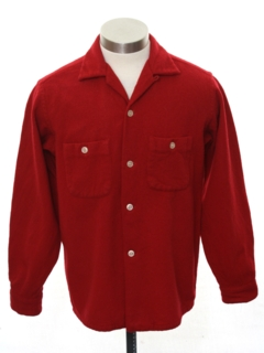 1950's Mens or Boys Flannel Shirt