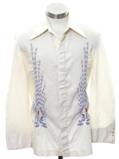 1970's Mens/Boys Embroidered Hippie Shirt