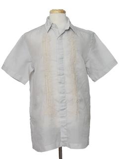 1970's Mens Guayabera Style Hippie Shirt