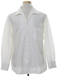 1960's Mens Mod Hippie Style Sport Shirt