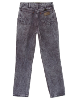 1980's Womens Totally 80s Acid Washed Jeans Pnats
