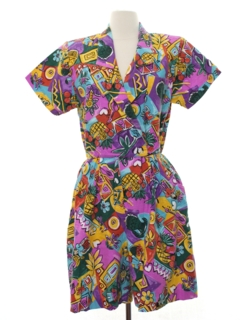 1980's Womens Totally 80s Romper