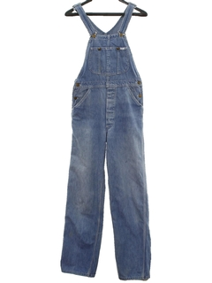1980's Mens Denim Overall Jeans Pants