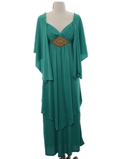 1970's Womens Disco Cocktail Maxi Dress