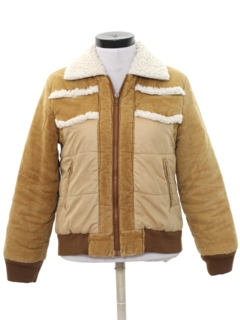 1980's Womens Totally 80s Corduroy Ski Jacket