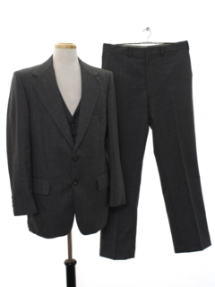 1970's Mens Three Piece Disco Suit