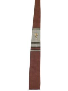 1950's Mens Mod Skinny Flat Bottom Necktie