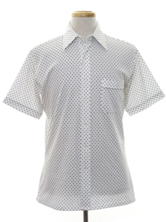 1970's Mens Subtle Print Disco Shirt