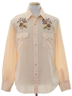 1970's Mens Embroidered Western Shirt