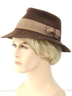 1950's Mens Accessories - Mod Fedora Hat