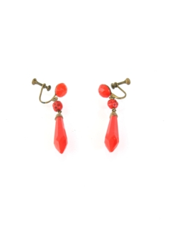 1940's Womens Accessories - Earrings