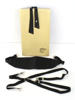1980's Mens Accessories - Totally 80s Tuxedo Cummerbund Set