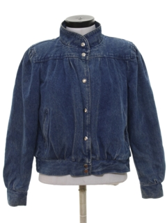 1980's Womens Totally 80s Denim Jacket