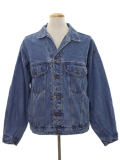 1980's Mens Designer Denim Jean Jacket