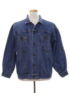 1980's Mens Totally 80s Denim Jean Jacket