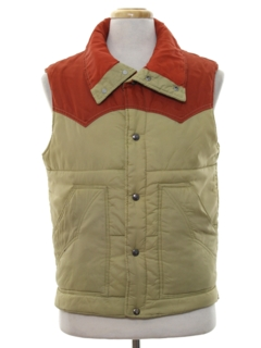 1980's Mens Totally 80s Western Style Ski Vest Jacket