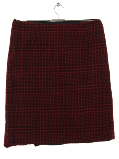 1990's Womens Wool Wiggle Skirt