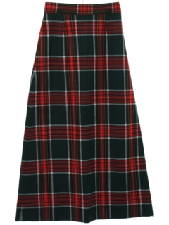 1970's Womens Wool Maxi Skirt