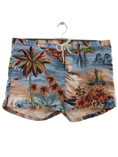 1980's Mens Hawaiian Shorts