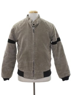 1980's Mens Brushed Cotton Motorcycle Style Jacket