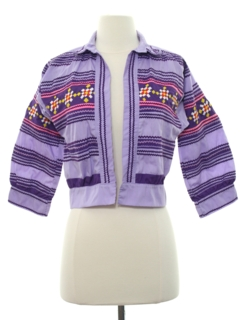 1970's Womens Hippie Shirt Jacket