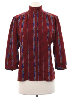 1980's Womens Designer Secretary Shirt