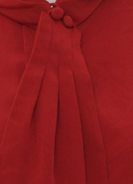 d487279b699b04 Retro 80s Shirt (David Matthew) : 80s -David Matthew- Womens red silky  polyester button cuff longsleeve button up front dressy shirt.
