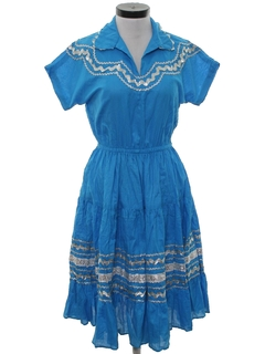 1960's Womens Western Style Square Dancing Dress
