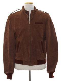 1980's Mens Suede Leather Members Only Style Jacket