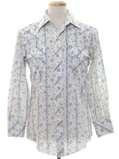 1970's Mens Print Western Shirt