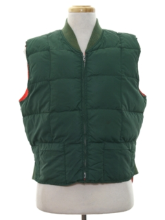 1980's Mens Reversible Hunting Vest Jacket