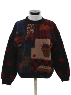 1990's Womens Cheesy Kitschy Fall Sweater